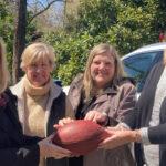 Succop Donates Signed Football For Denim & Diamonds, 4/24