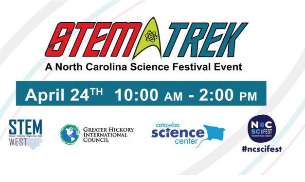 STEM TREK! Returns To Catawba Science Center This Sat., 4/24