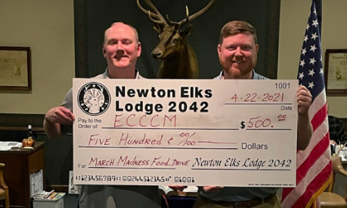 Newton Elks Lodge Donates To  ECCCM's Food Drive