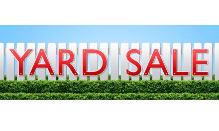 Indoor Community Yard Sale, Hiddenite, Saturday, July 17