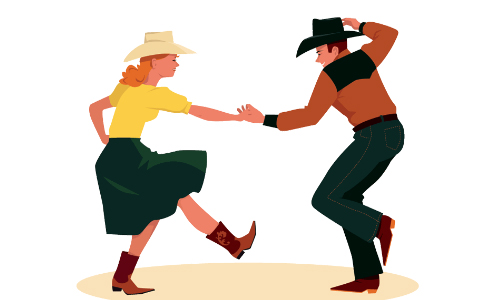 Hickory Twirlers Square Dancing