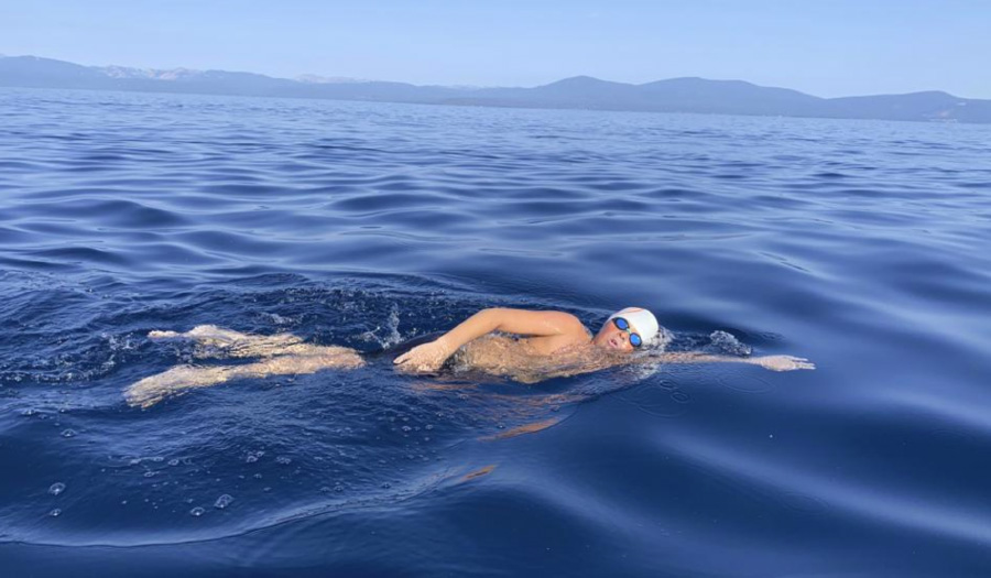 14-Year-Old Becomes Youngest To Swim Length Of Lake Tahoe