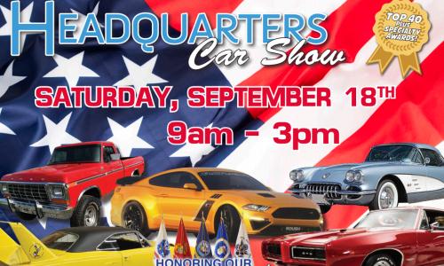 Headquarters Car Show To  Benefit Safe Harbor, Sat., Sept. 18