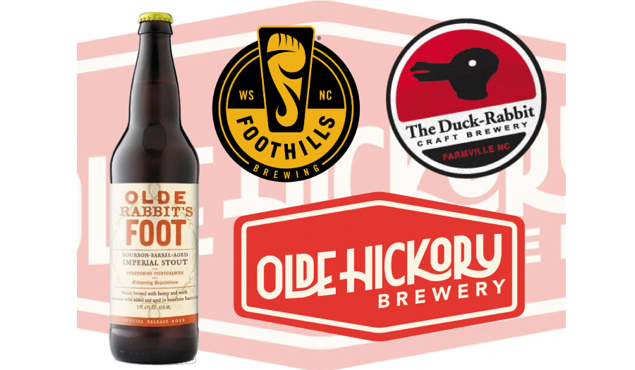 Olde Hickory Brewery Announces Release Of A Collaboration Beer, Olde Rabbit's Foot, On Oct. 1