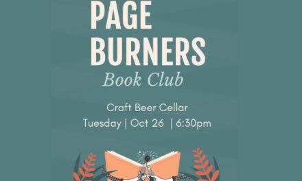Craft Beer Cellar Hosts Page Burners Book Club, Tues., 10/26